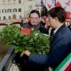 Cerimonia lancio Corona d'Alloro del Comune di Firenze in memoria delle vittime Alluvione '66 nel 51° anniversario