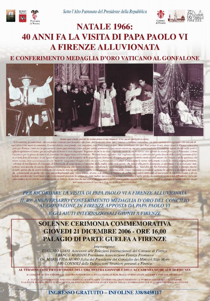 MANIFESTO 40 ALLUVIONE PAPA PAOLO VI