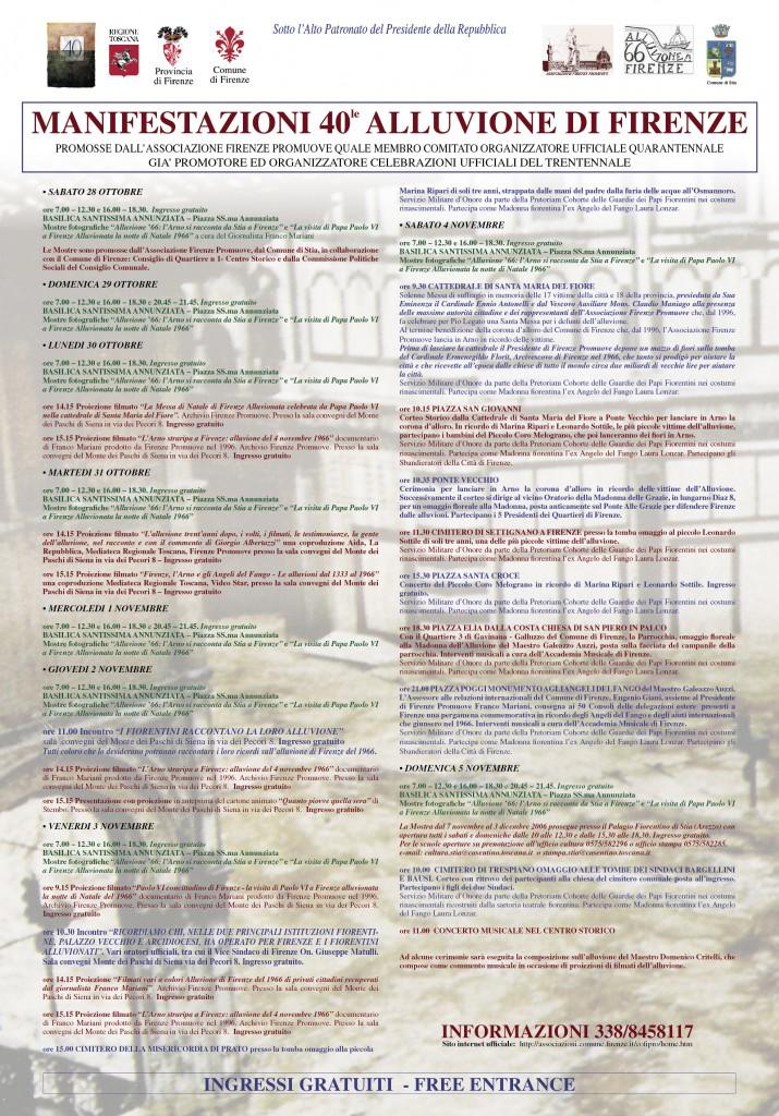 manifesto 40 alluvione 66 Firenze 2016