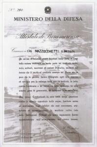 Attestato Benemerenza Medaglia d'Argento alluvione 1966
