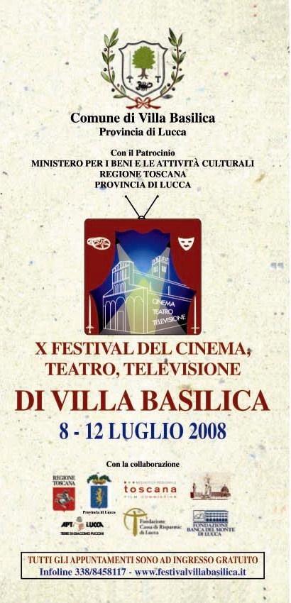 Depliant Festival 2008 Villa Basilica