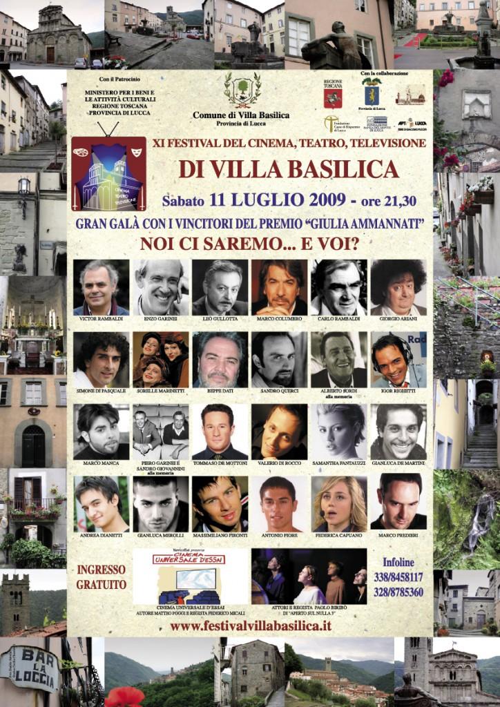 Locandina 2009 festival villa basilica