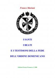 Libro SANTI  BEATI TESTIMONI DELLA FEDE DOMENICANI di Franco Mariani-page-001