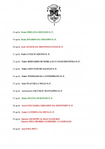 Libro SANTI  BEATI TESTIMONI DELLA FEDE DOMENICANI di Franco Mariani-page-011