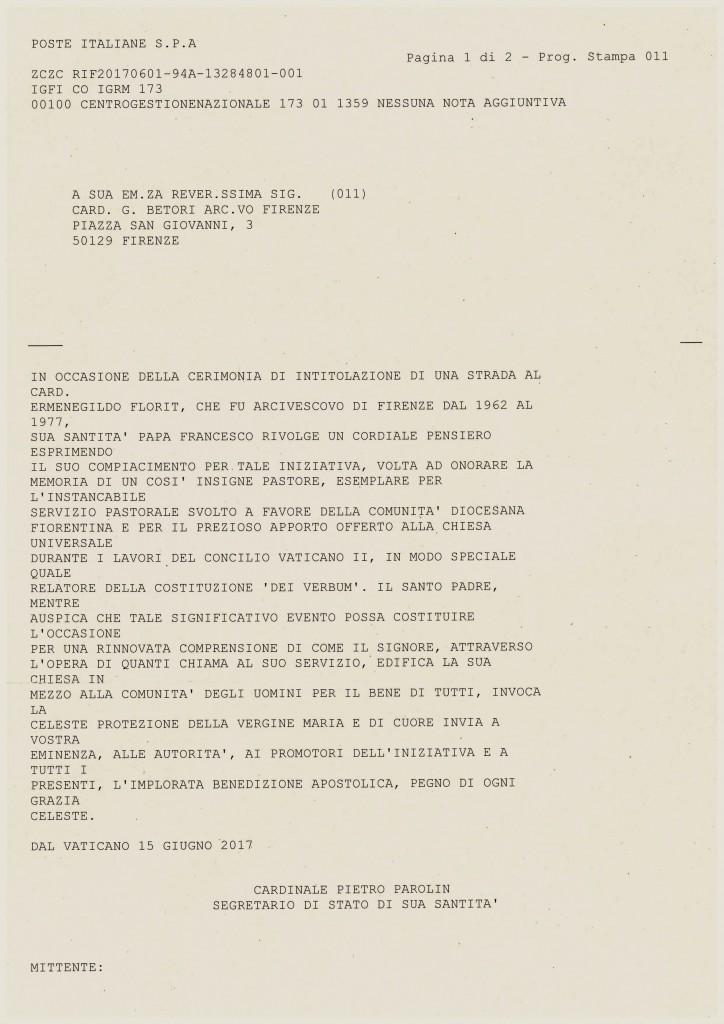 Messaggio di Papa Francesco per Card Florit-page-001