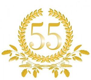 55-Lorbeerkranz mit Eichenblatt Dekor
